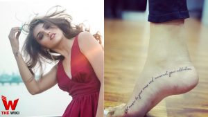 Shruti Sinha tatoo