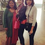 Shruti Sinha with mother and sister Akruti sinha