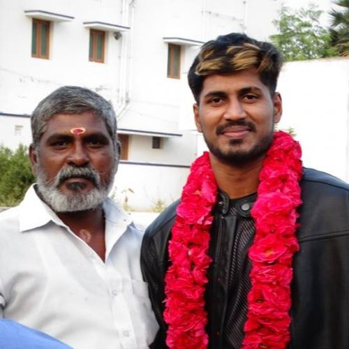 K. Prapanjan (Kabaddi Player) with father