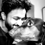 Veer with his dog Pheebi