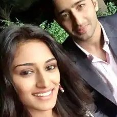 Shaheer Sheikh (TV Actor) with Erica Fernandes