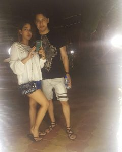 Anshul Pandey (Actor) with GF Priyanka Wadhwani