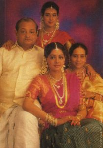 Rajeswari Yanger with husband and two daughters