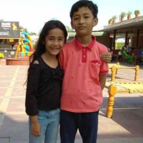 Aakriti Sharma with Brother