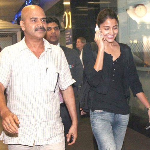 Anushka Sharma with father Ajay Kumar Sharma