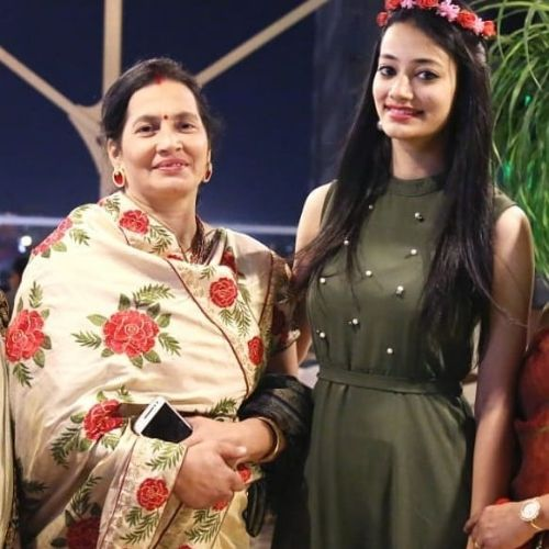 Chetna Joshi with her mother