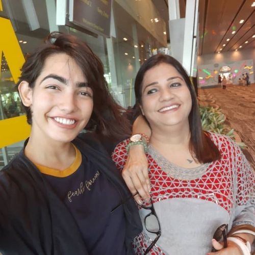 Tamanna Sharma with her mother