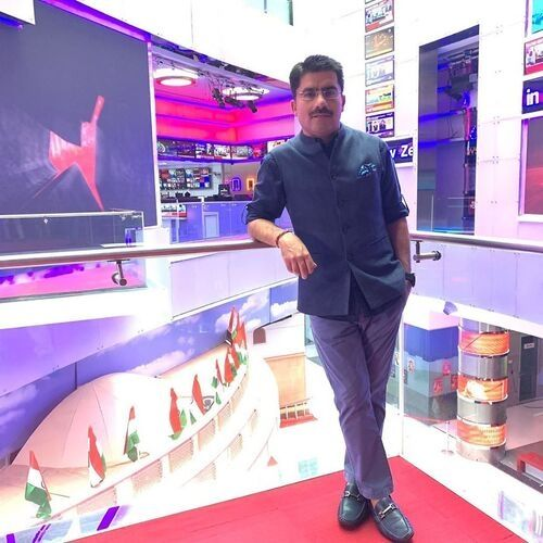 News anchor of Aaj Tak Channel (Rohit Sardana)
