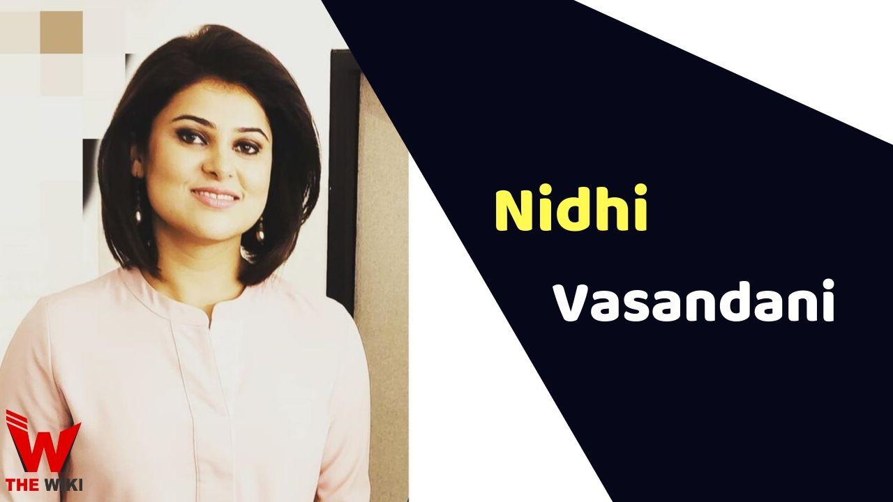 Nidhi Vasandani (News Anchor)