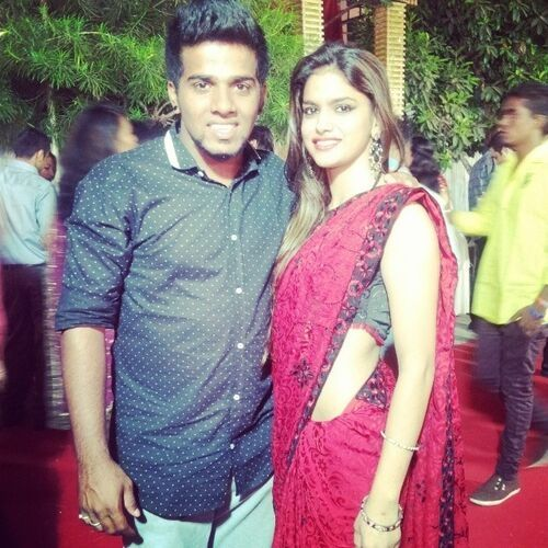 Nivedita Sharma (Dancer) with brother