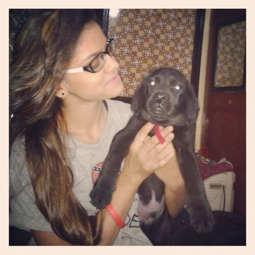 Nivedita Sharma (Dancer) with her dog
