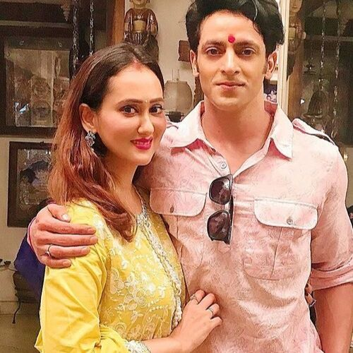 Vikas Manaktala (Actor) with Wife Gunjan Walia