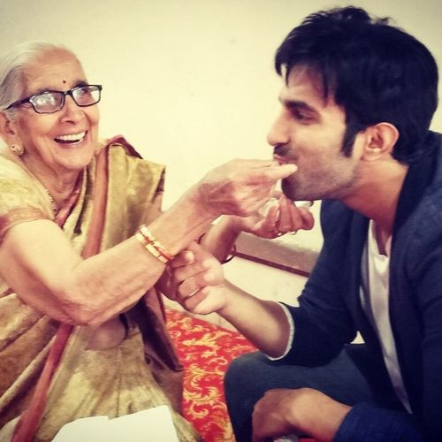 Ankit Siwach with Grand Mother