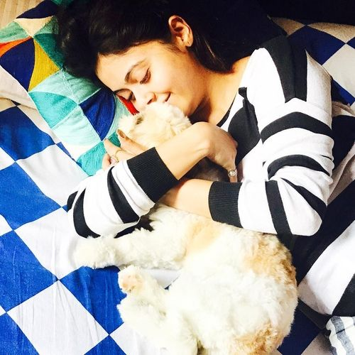 Devoleena with pet dog Angel