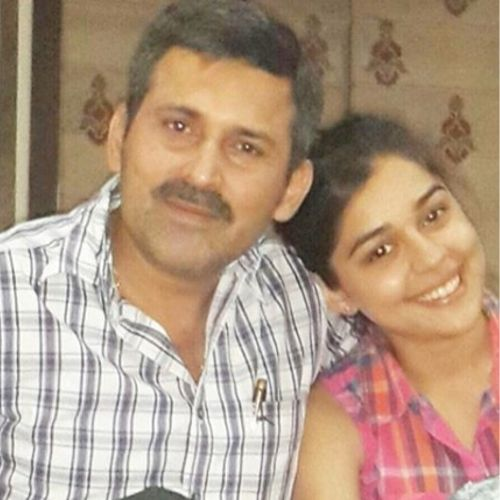 Eisha Singh with Father