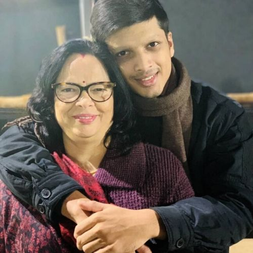 Mother Rekha Deepsi and Brother Rishabh
