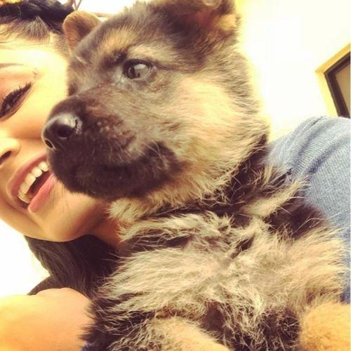 Pranali with her dog