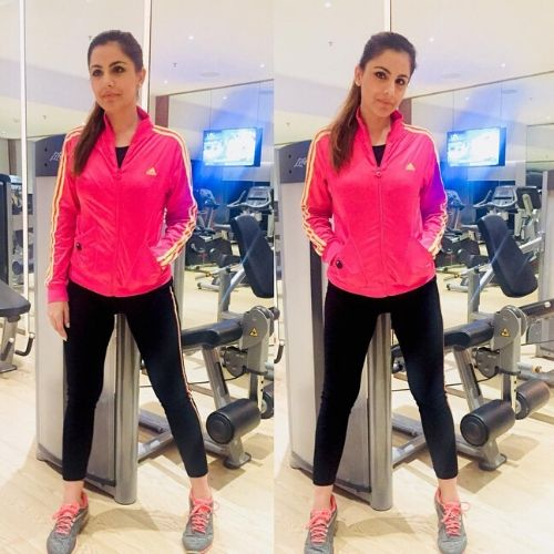 Simran loves to do gymming