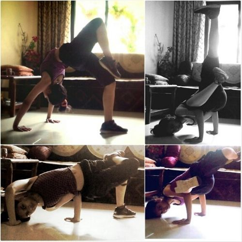 Megha Picture during yoga