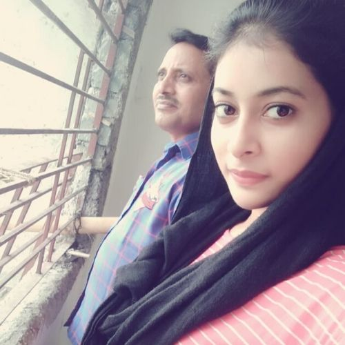 Nidhi with Father