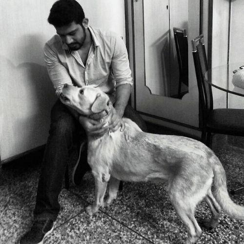 Vineet loves dog