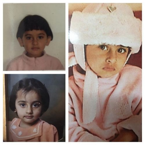Anagha Bhosale Childhood picture