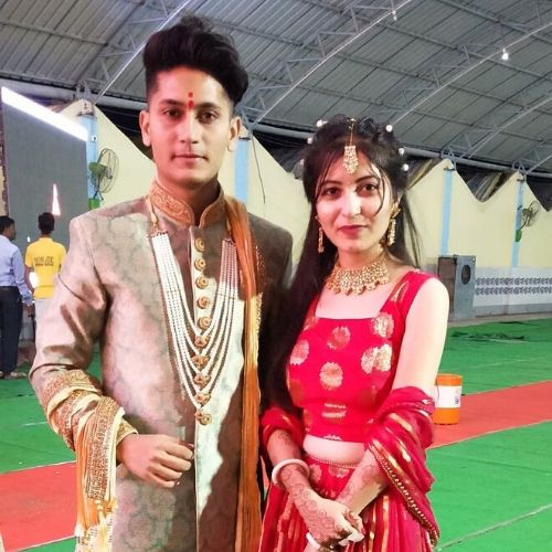 Ashwin Patil with sister