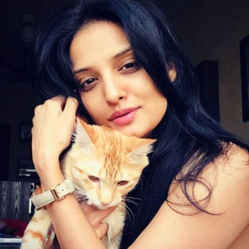 Prema Mehta with Pet Dog