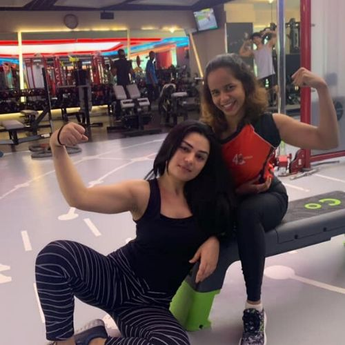 Renee Dhyani in Gym