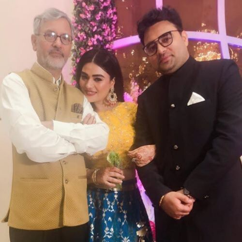 Renee Dhyani with father and brother