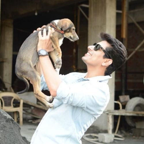 Khushwant is pet lover