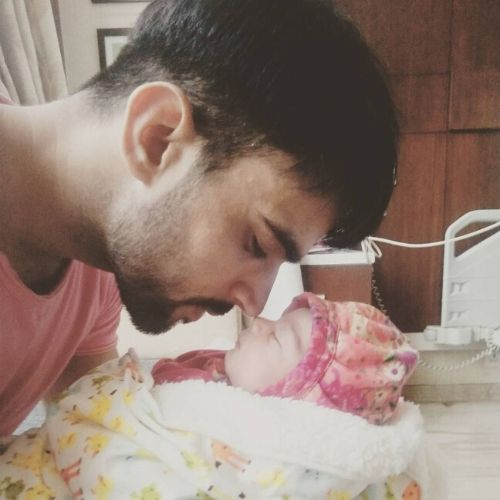 Rohit Choudhary with Daughter Siya