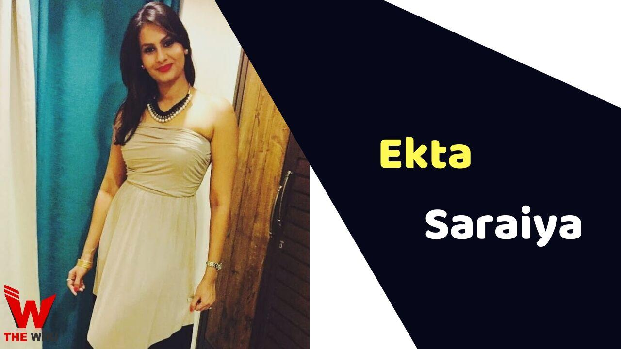 Ekta Saraiya (Actress)