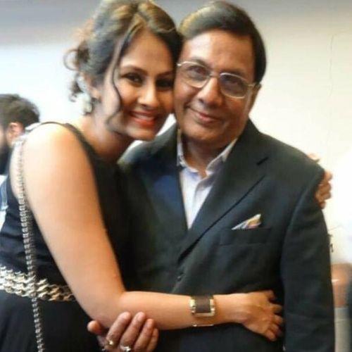 Ekta Saraiya with Father