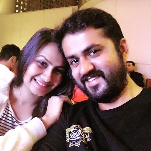 Ekta Saraiya with Husband