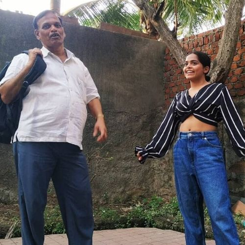 Sonal Vichare with Father