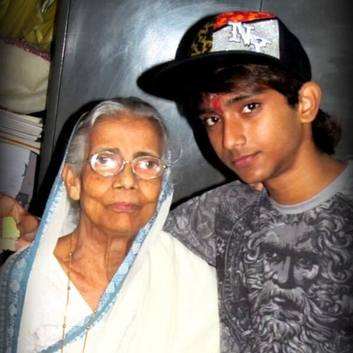 Subhranil Paul with Grandmother