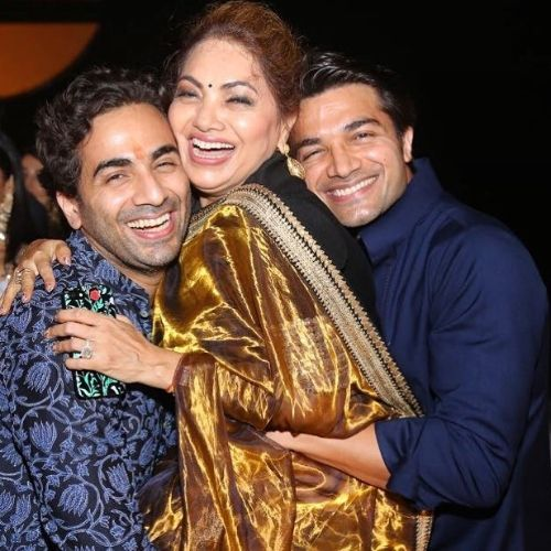 Gautam Gupta with Mother and Brother
