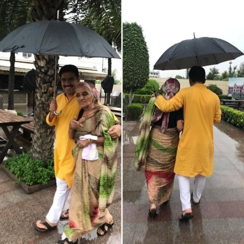 Rohit Sardana with his mother