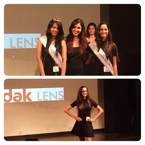 Gargi Sawant at campus princess competition