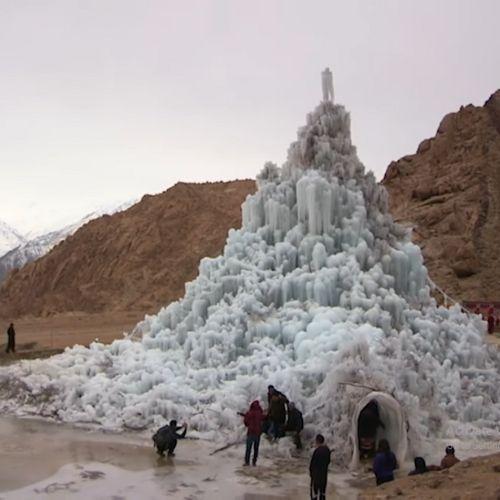 Ice Stupa by Wangchuk