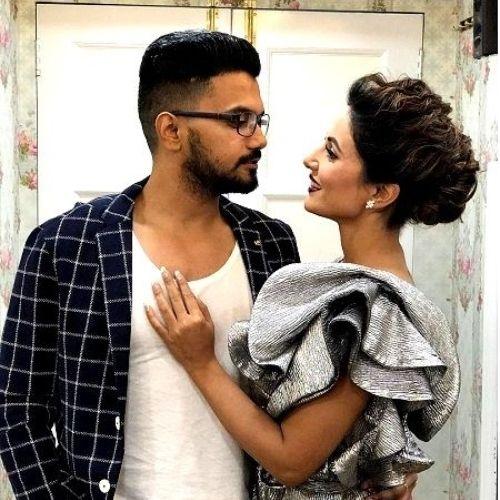 Rocky Jaiswal and Hina Khan