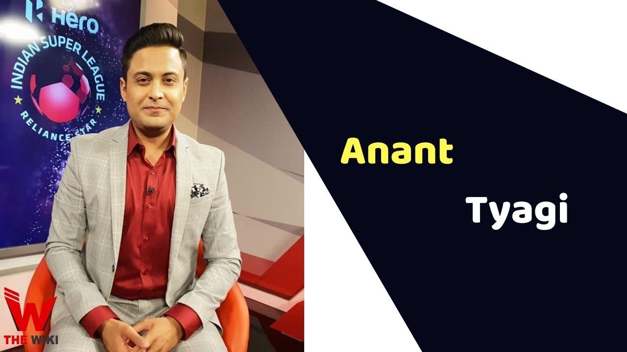 Anant Tyagi (Sports Anchor)
