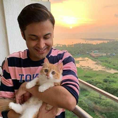 Anant Tyagi with Cat