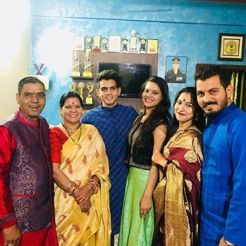 Kamlesh Nagarkoti Family