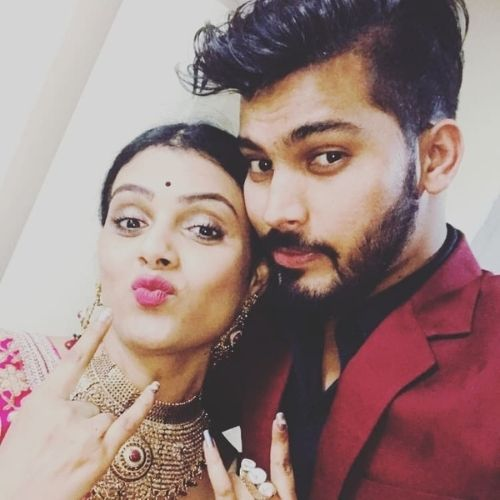 Aalya Singh with Brother
