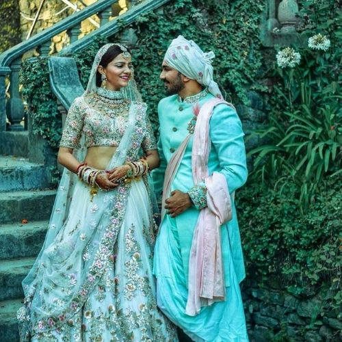 Abhinav Shukla with Rubina Dillik