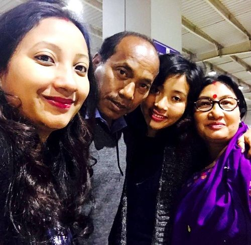 Ankita Konwar with Family