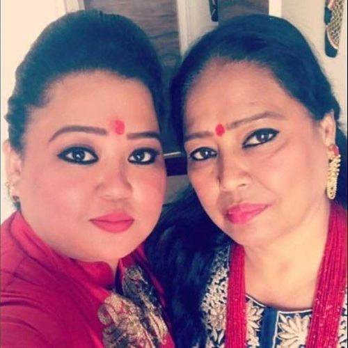 Bharti Singh with mother