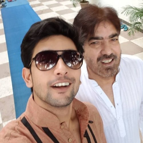 Fahmaan Khan with Father